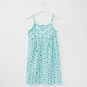 Сорочка женская, цвет ментоловый, размер 52