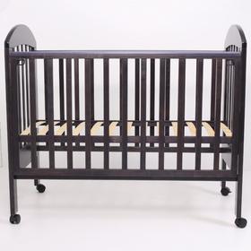 Кровать детская «Дарина-1», 120х60 см, колесо, цвет венге