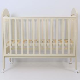 Кровать детская «Дарина-1», 120х60 см, колесо, цвет слоновая кость
