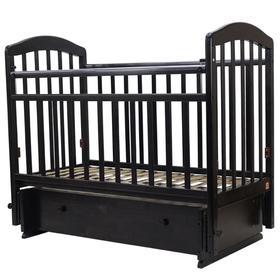 Кровать детская «Лира-7», 120х60 см, универсальный маятник, ящик, цвет венге