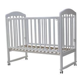 Кровать детская «Сильвия-2» , 120х60 см, колесо, качалка, цвет белый