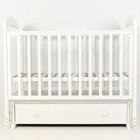 Кровать детская «Сильвия-7» , 120х60 см, универсальный маятник, ящик, цвет белый