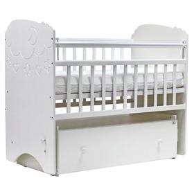 Кровать детская «СОФЬЯ» , 120х60 см, маятник, ящик, колесо, цвет белый