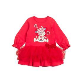 Платье для девочек, рост 80 см, цвет красный