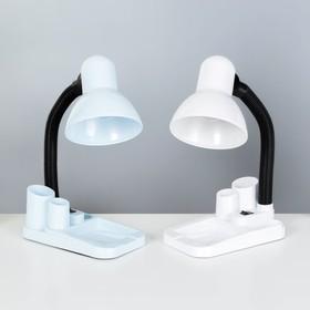 Лампа настольная UT-220 на подставке, с пеналом, 1х60Вт Е27 белый, h=31 см