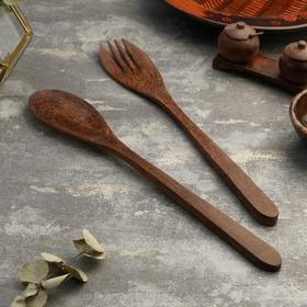 "{{photo.Alt || photo.Description || 'Набор вилка и ложка из кокоса ""Баунти"" 40 см'}}"