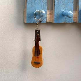"Keychain made of wood ""Guitar"" 14x3x1 cm"