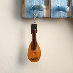 "Keychain made of wood ""Domra"" 14x3x1 cm"
