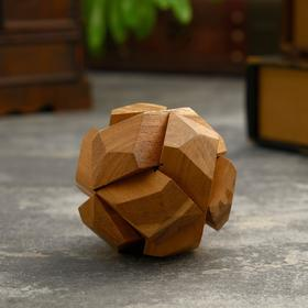 "Головоломка из дерева ""Марс"" 6 частей 8х8х8 см"