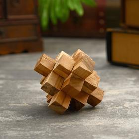"""Головоломка из дерева """"Крест"""" 9 частей 10х10х10 см"""