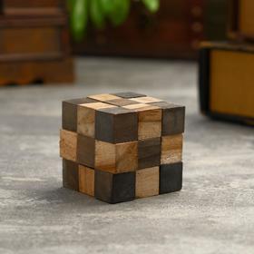 """Головоломка из дерева """"Темный куб"""" 6,5х6,5х6,5 см"""