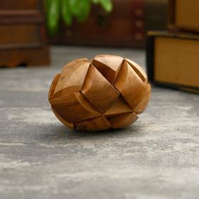 """Головоломка из дерева """"Ком"""" 7 частей 11х6,5х6,5 см"""