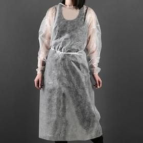 Surgical gown with a drawstring, elastic cuff 42 g / m2 length 130 cm