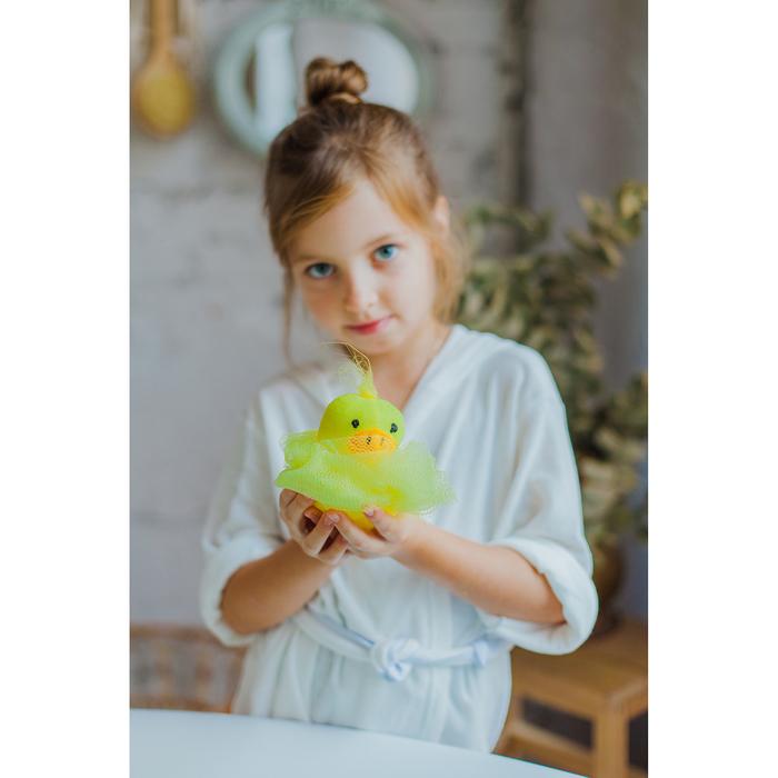 Мочалка детская Доляна «Утёнок», 20 гр - фото 106524036