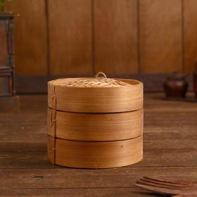 """Bamboo steamer """"Delok"""" 13x13x11 cm"""