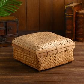 """Плетёная корзинка бамбук """"Семаранг"""" 27х27х14 см"""