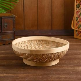 "Wicker basket, bamboo ""Sativan"" 30x30x11cm"