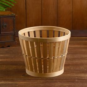 Корзина бамбук «Куват», 23×23×19см