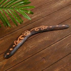 """Сувенир из дерева """"Бумеранг"""" коричневый 40х10х1 см"""