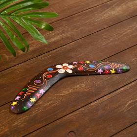 """Сувенир из дерева """"Бумеранг"""" коричневый 30х8х1 см"""