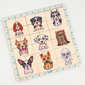 Двухслойный пазл - сортер DOG SHOW «Забавные пёсики»
