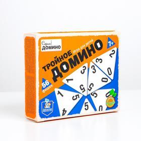 Игра настольная деревянная «Тройное домино»