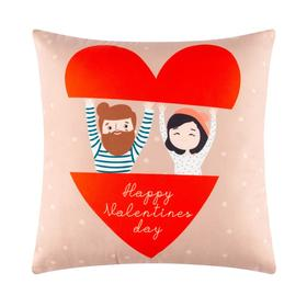 "Подушка ""Этель"" Valentines day, 40х40 см, велюр, 100% п/э"