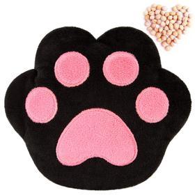 Развивающая игрушка-грелка «Лапа», чёрно-розовая