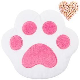 Развивающая игрушка-грелка «Лапа», бело-розовая