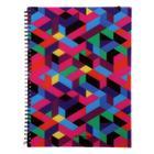 Тетрадь А4, 80 листов в клетку, на гребне Disco Style, пластиковая обложка, на резинке, блок офсет