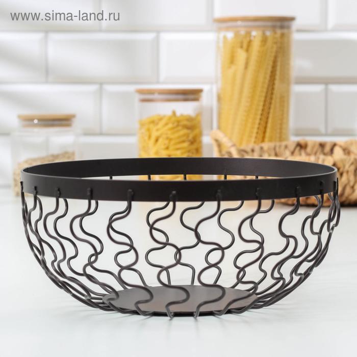 """Fruit bowl """"Medusa"""" 24x24x10 cm, color black"""
