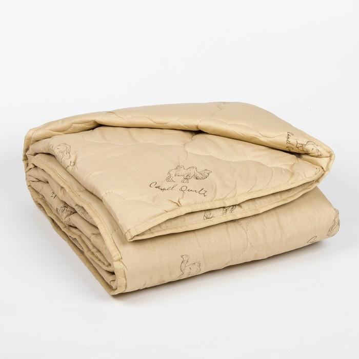 "Одеяло всесезонное Адамас ""Верблюжья шерсть"", размер 140х205 ± 5 см, 300гр/м2, чехол п/э - фото 1563431"