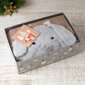 "Gift set ""Bunny"", Terry corner 75*75 cm, diaper 75*120 cm cotton 100%"