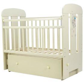 Кровать детская «Верона», 120х60 см, маятник, ящик, цвет слоновая кость
