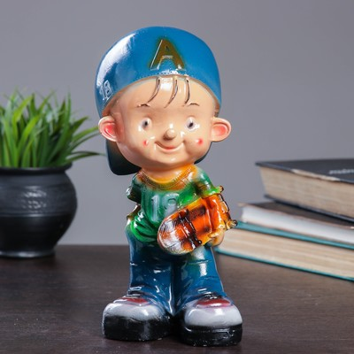 "Копилка ""Мальчик со скейтом"" 12х12х24см №18"