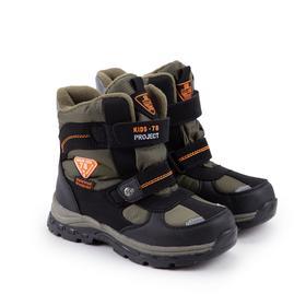 Ботинки детские, цвет чёрный, размер 34