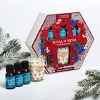 Подарочный набор «Тепла и уюта», аромамасло 3шт, свеча - фото 514904