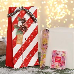 Подарочный набор «For you Новый год», 2 предмета: зеркало, массажная расчёска, цвет МИКС