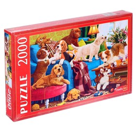 Пазлы 2000 элементов «Игривые щенки»