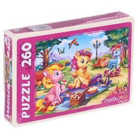 Пазлы 260 элементов «Пони на пикнике»