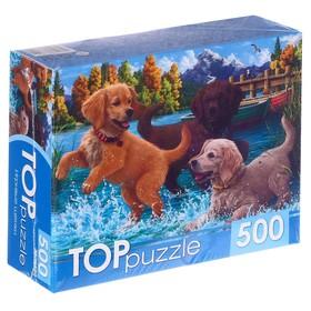Пазлы 500 элементов «Игривые щенки»