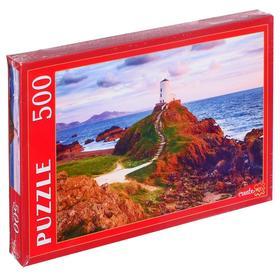 """Пазлы 500 эл. """"Англия. Маяк на острове Инис Лландуин"""" ГИП500-0617"""