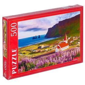 Пазлы 500 элементов «Исландия. Деревня Вик»