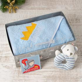 "Gift set ""Prince"", Terry corner 75*75 cm, toy, 100 cotton%"