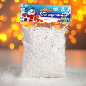 "Artificial loose snow for decoration ""shiny Flakes"" 50 gr"