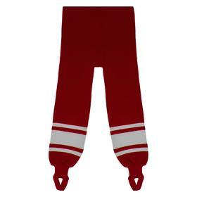 Рейтузы хоккейные, размер 50, цвет красный/белый