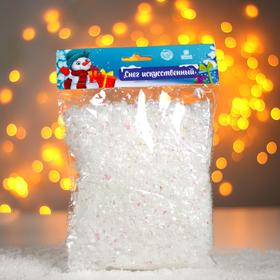 "Artificial loose snow for decoration ""semitransparent Flakes"" 100 gr"