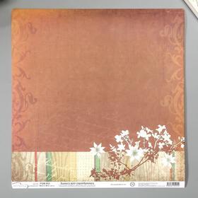 "Бумага для скрапбукинга Mr.Painter ""Коричневый шарм"" 30,5х30,5 см 180гр/м2"