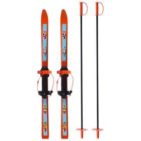 Лыжи детские «Вираж-спорт» 100/100, палки стеклопластиковые
