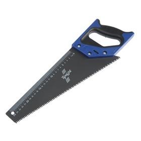 Ножовка по дереву TUNDRA, 2К рукоятка, тефлоновое покрытие, 3D заточка, 7-8 TPI, 350 мм